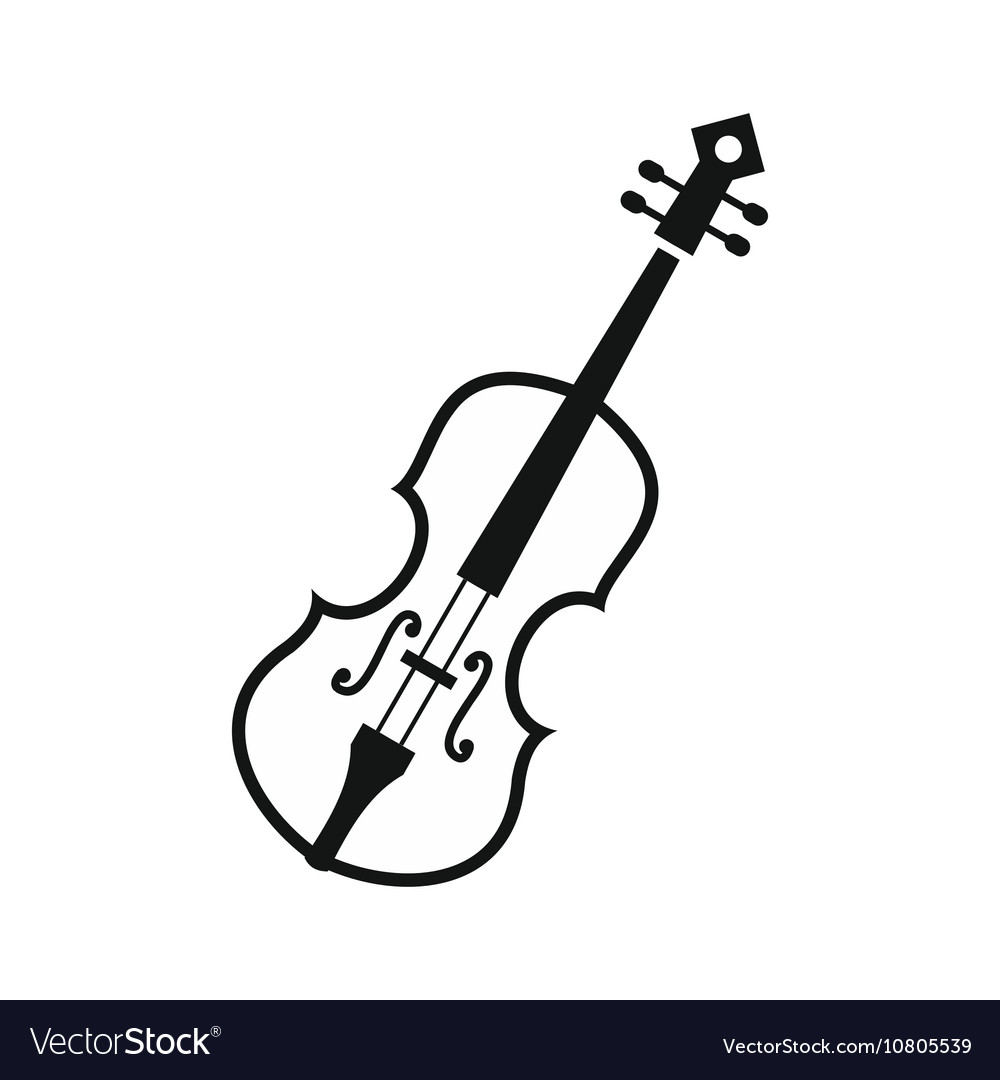 Cello Icon In Simple Style Vector Image