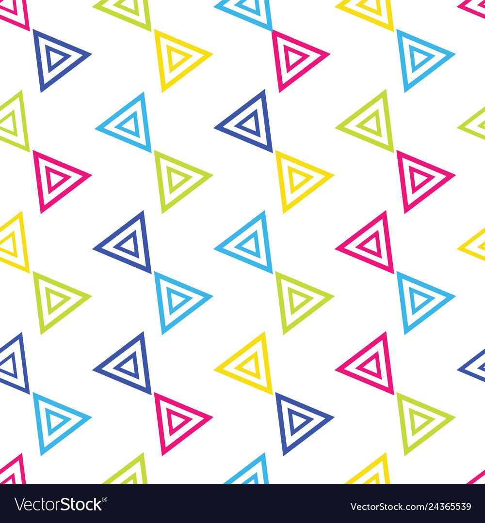 Colorful triangular seamless repeat pattern on