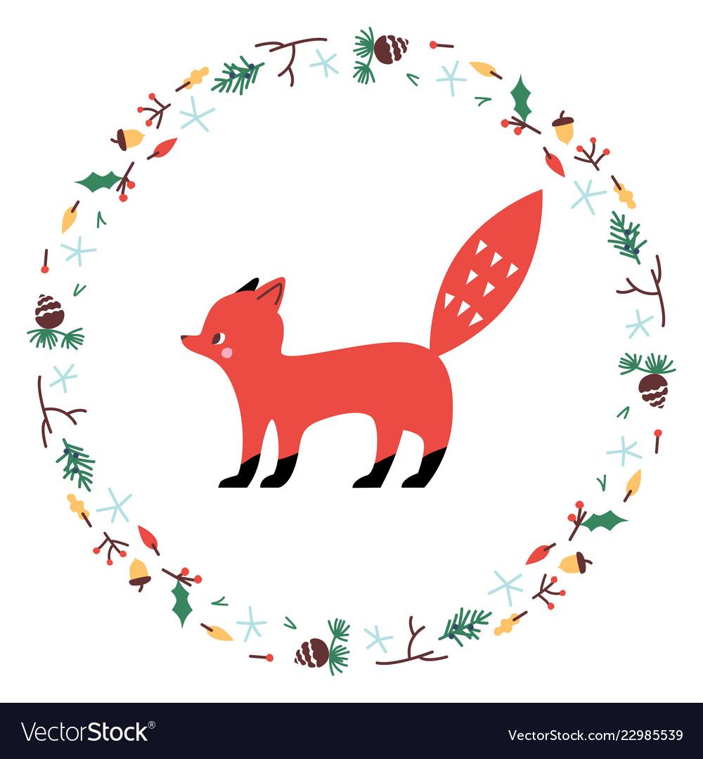 Cute fox minimalistic design