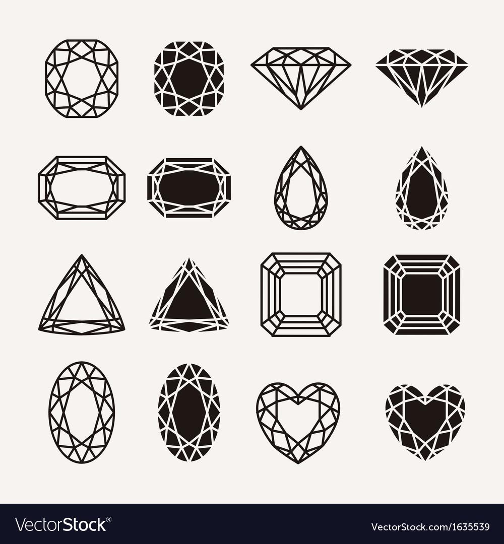 Diamond icons vector image