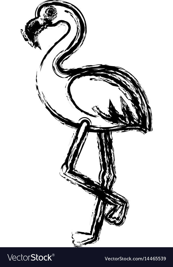 Flamingo bird icon
