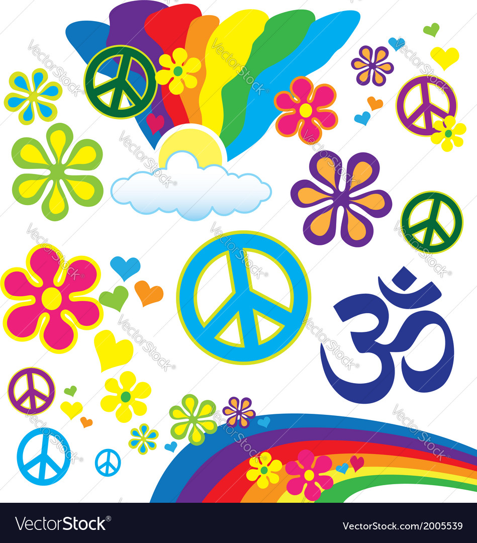 Hippy Elements vector image
