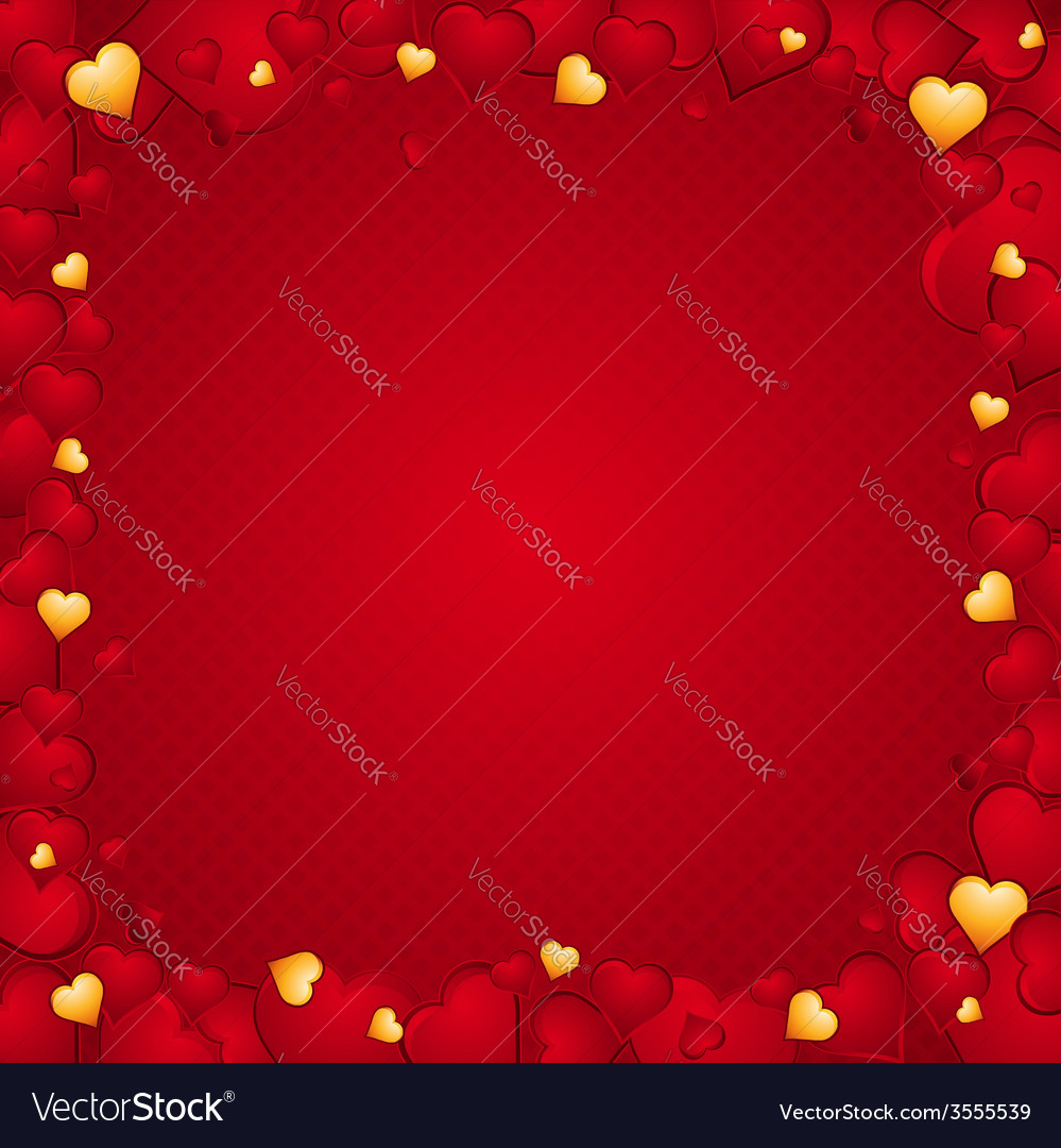 Lovely Background Of Hearts Royalty Free Vector Image