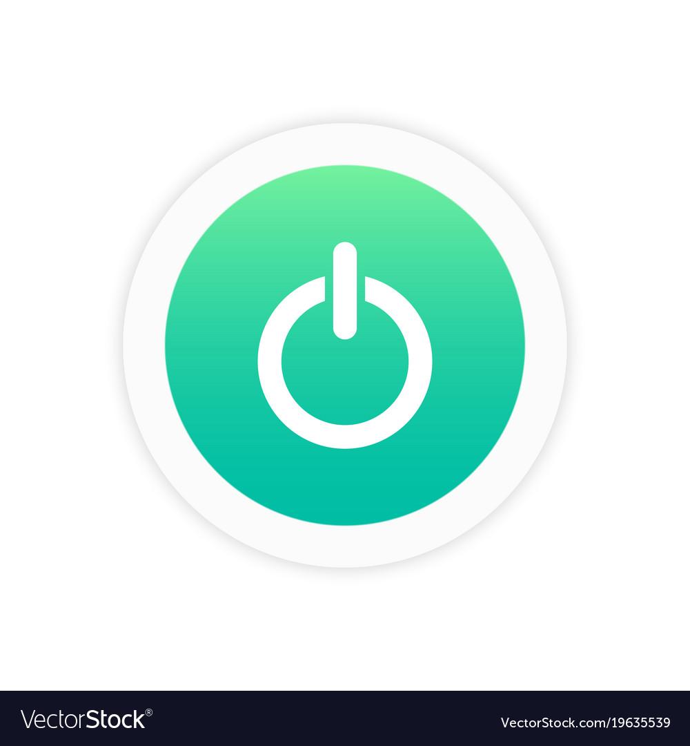 power off icon sign royalty free vector image vectorstock vectorstock