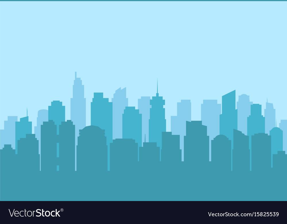 Urban city landscape modern skyscraper silhouette
