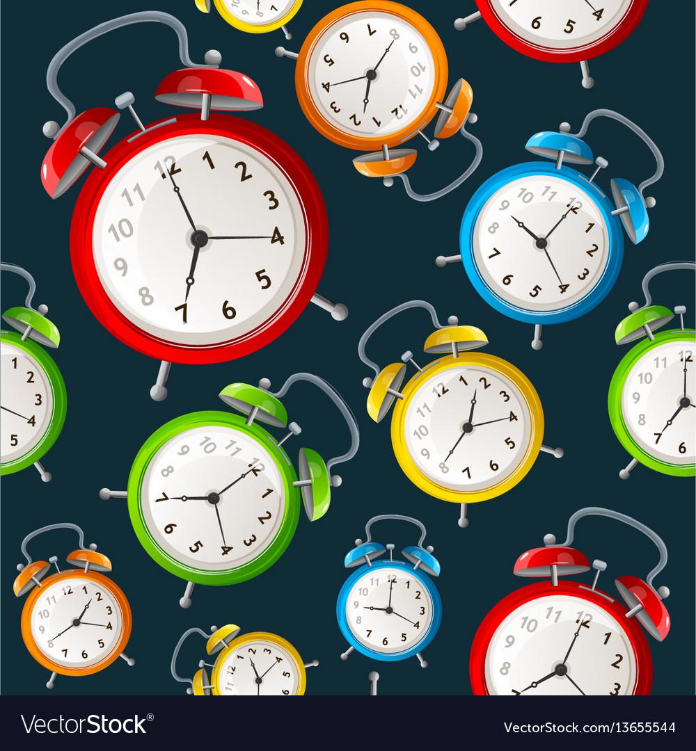 Alarm clock pattern background