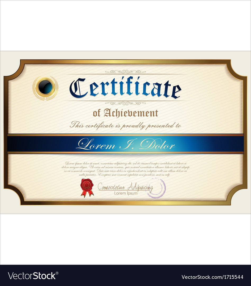Certificate Template Royalty Free Vector Image