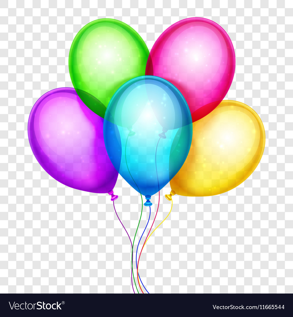 Colorful balloons birthday decoration Royalty Free Vector