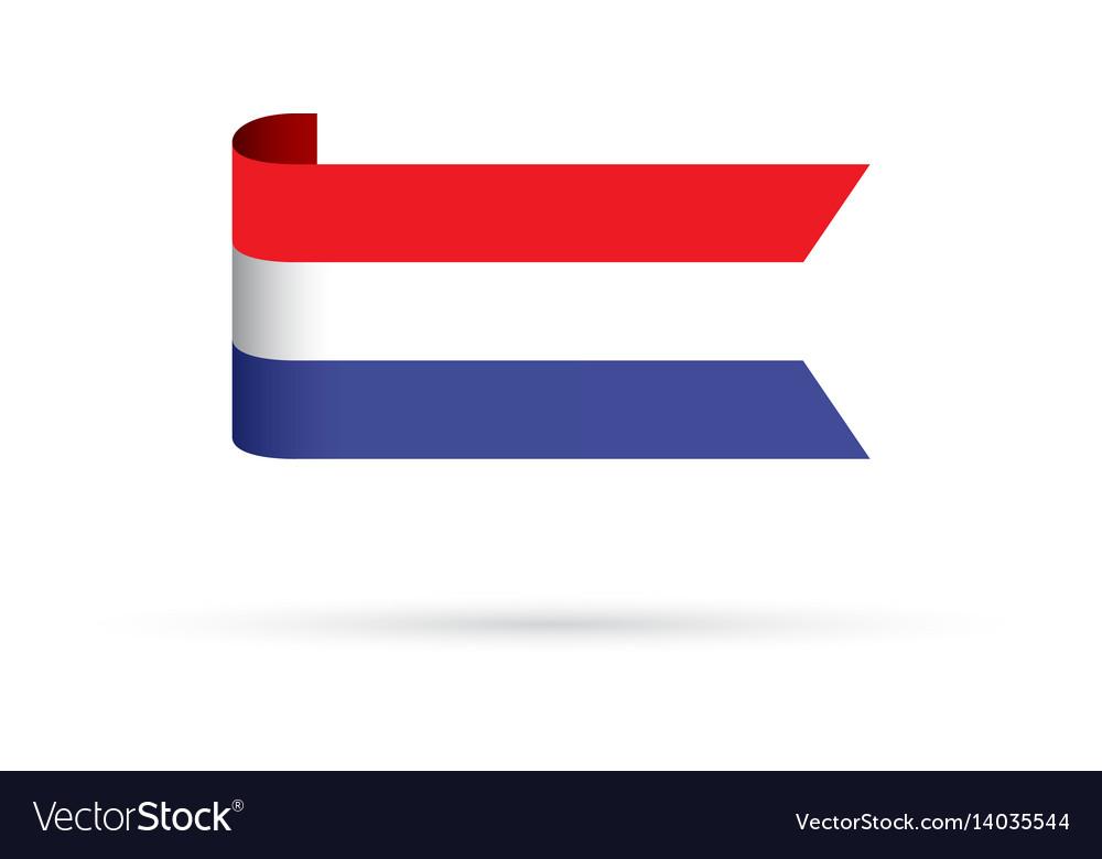 dutch flag royalty free vector image vectorstock