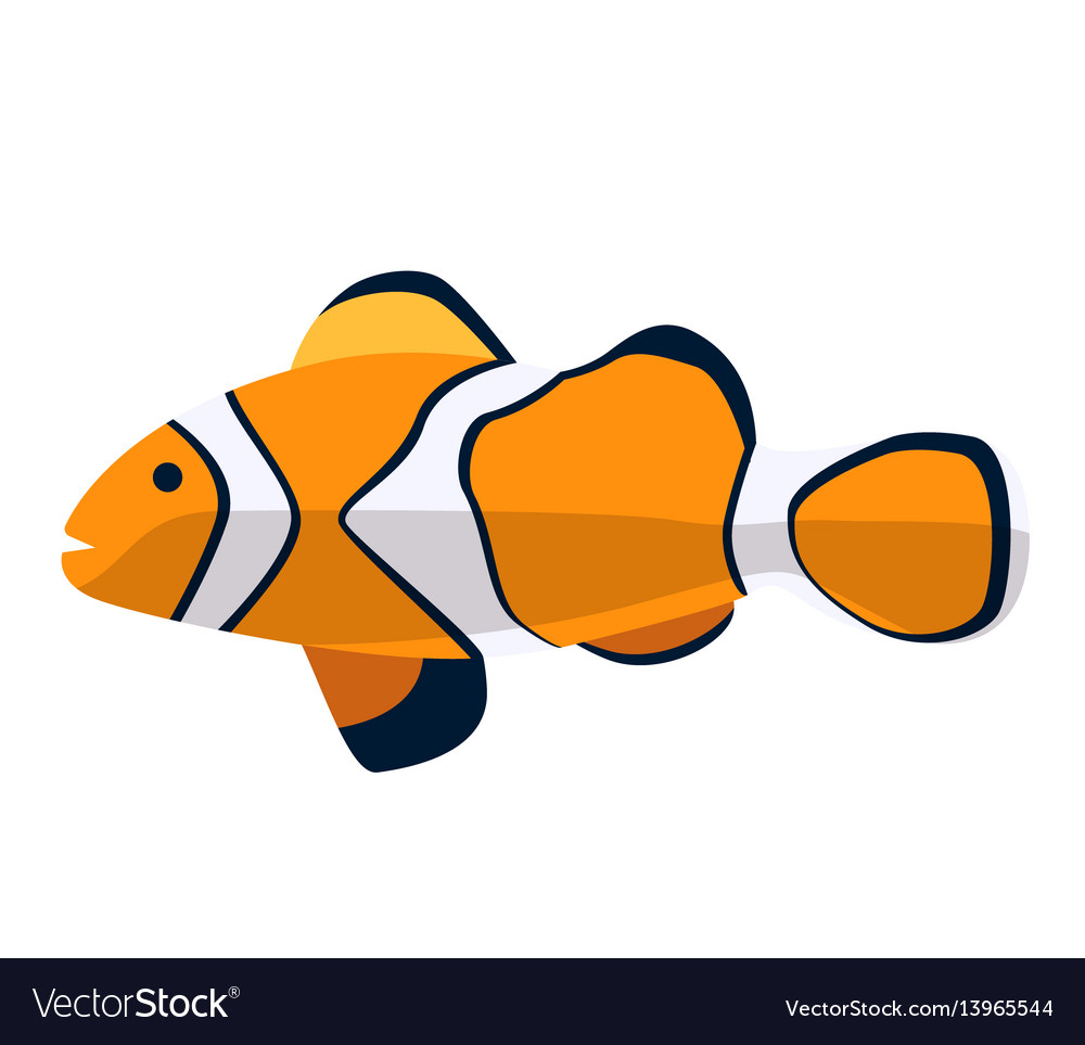 Fish icon flat ocean or sea