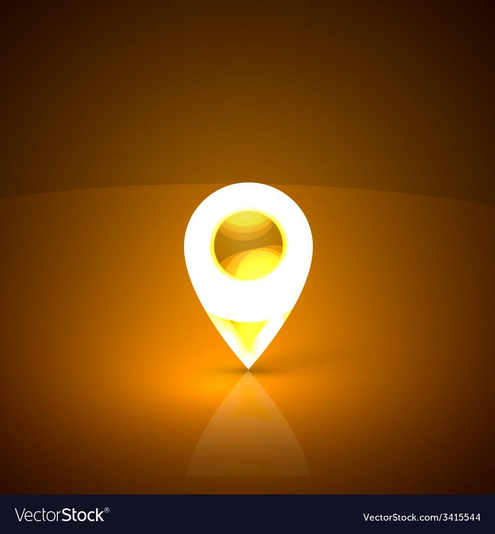 Golden map marker