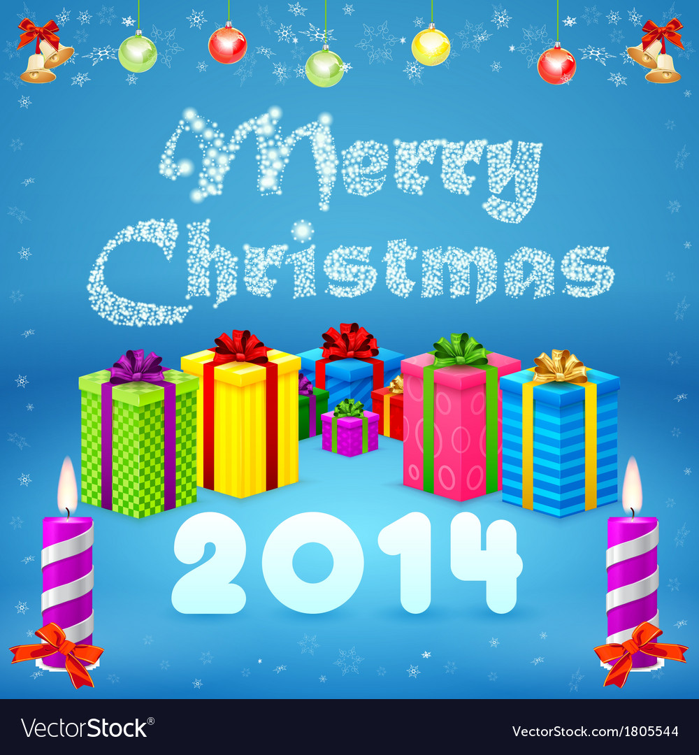Merry Christmas background 2014 Royalty Free Vector Image