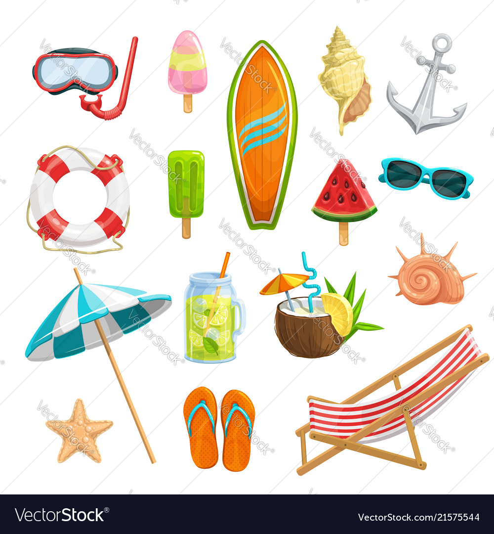 Set summer icons