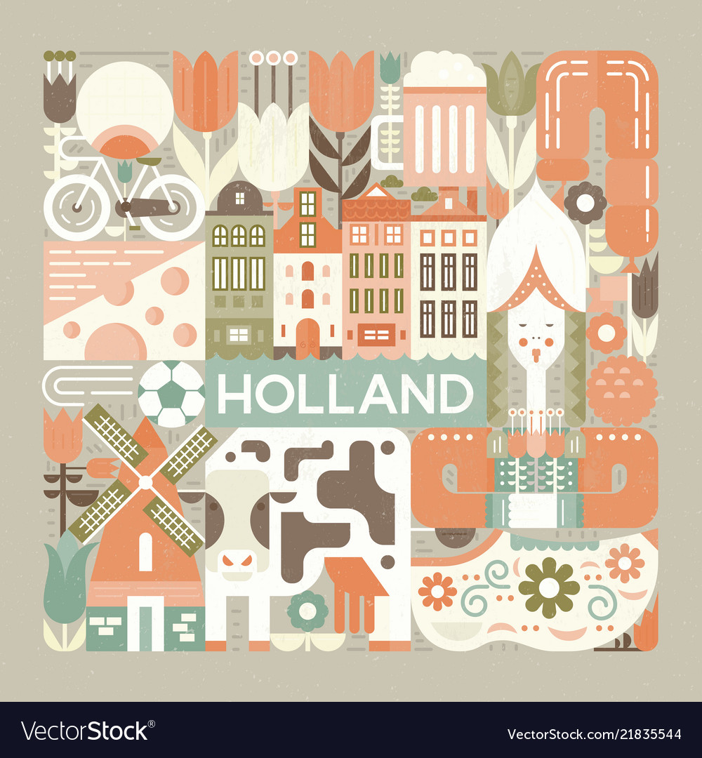 Symbols holland vector