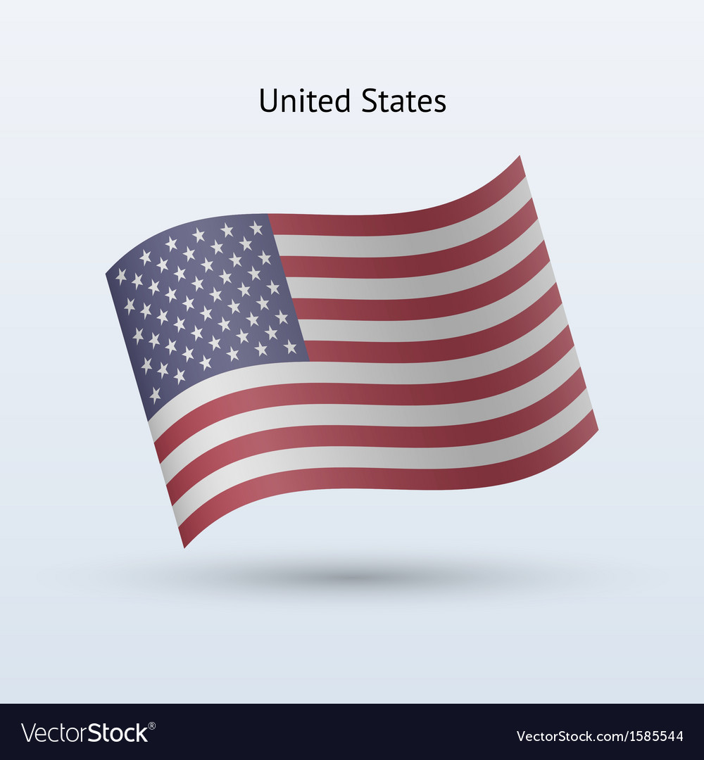 United States flag waving form vector image