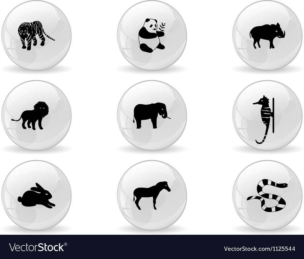 Web buttons animal icons 3