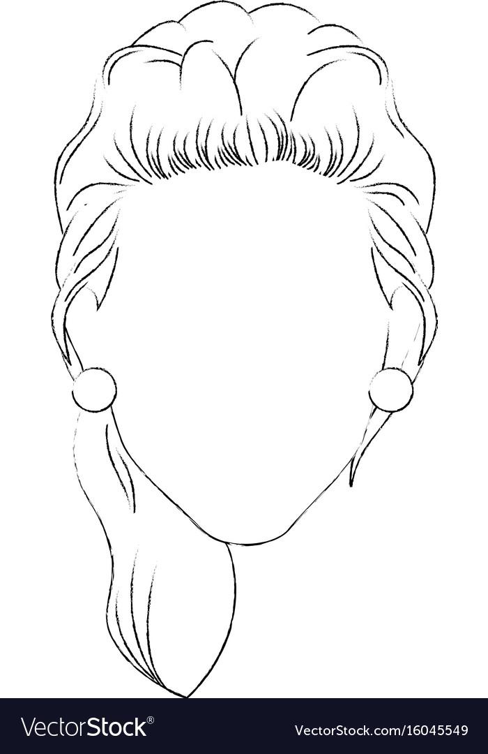 Retro woman cartoon