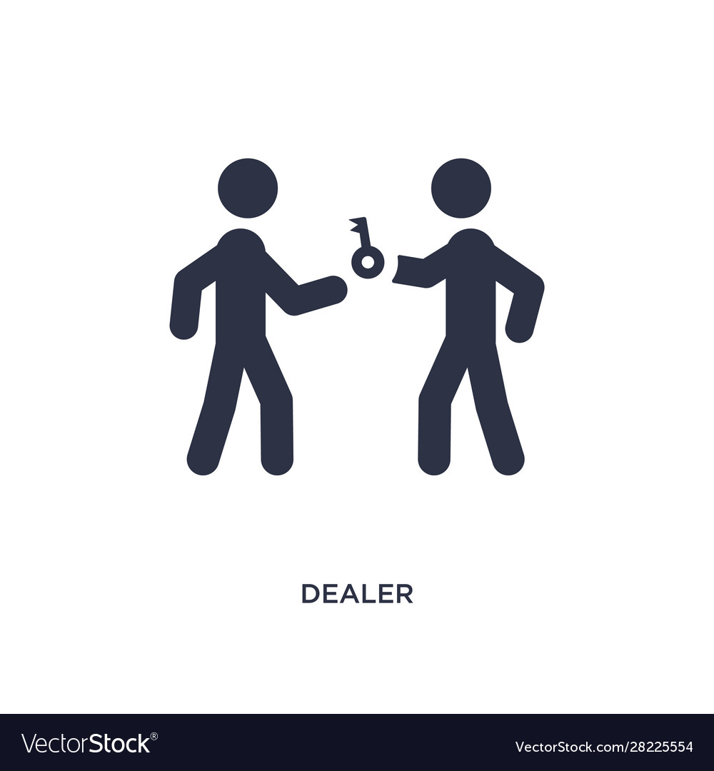 Dealer icon on white background simple element