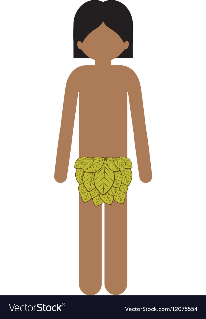 Indian man with leaves loincloth