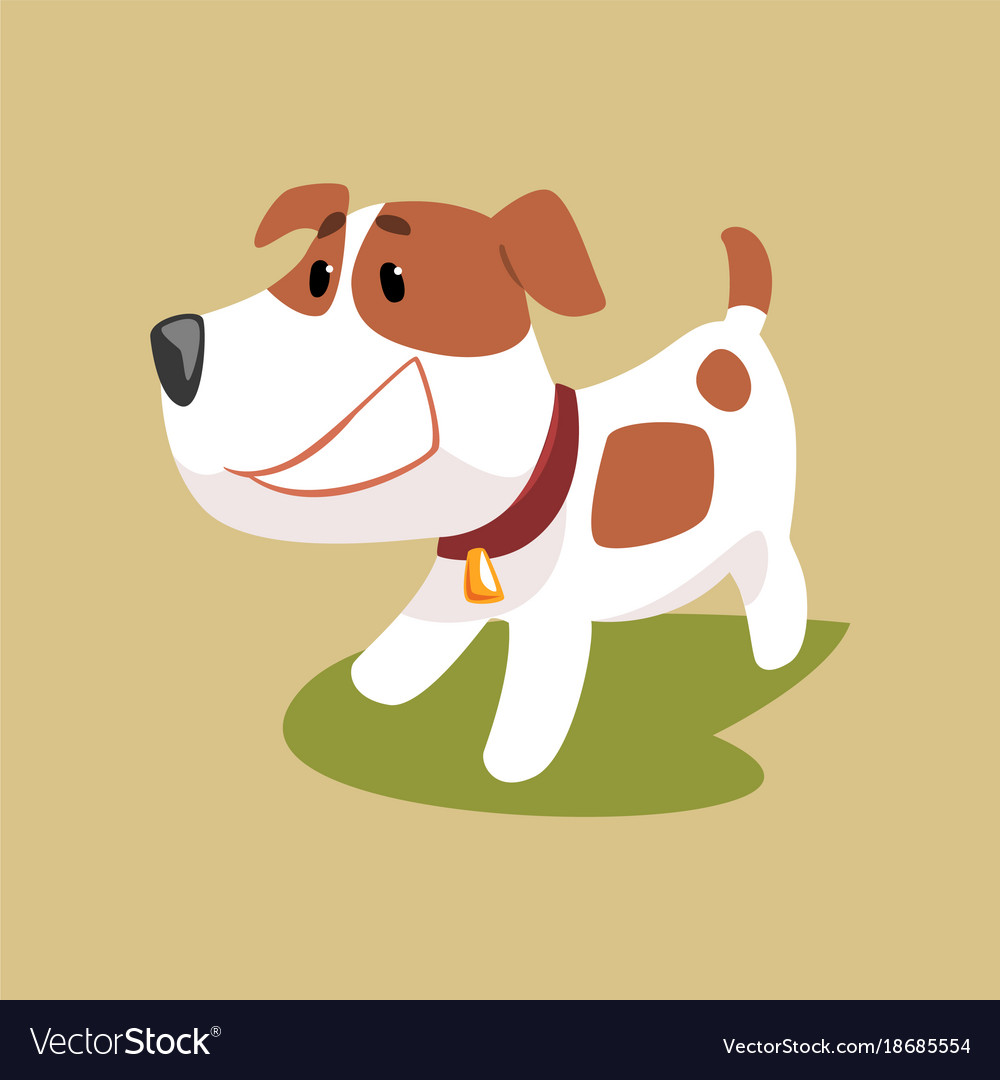 Jack russell puppy character smiling cute funny vector image