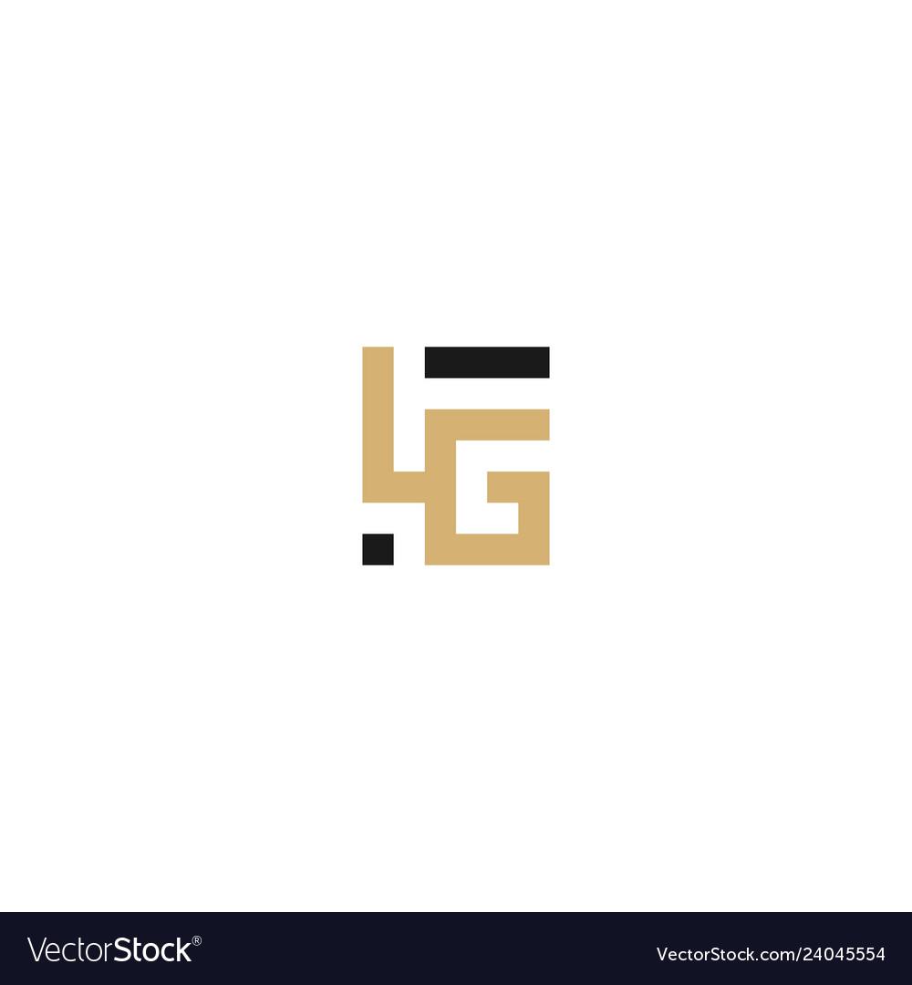 Lg letter logo monogram lettermark icon