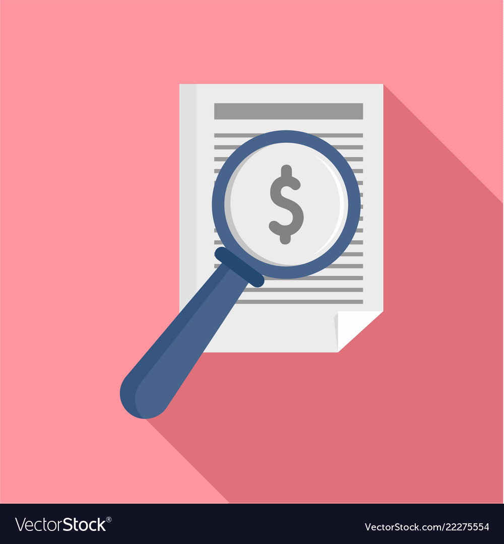 Payment paper icon flat style