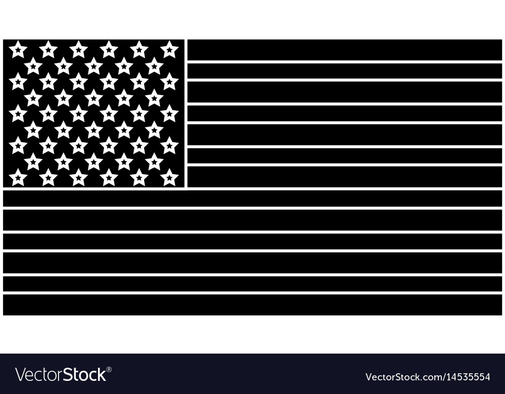 United states of america flag silhouette