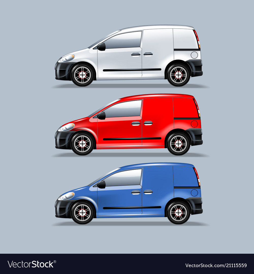 A set of vans for mounting your advertisement