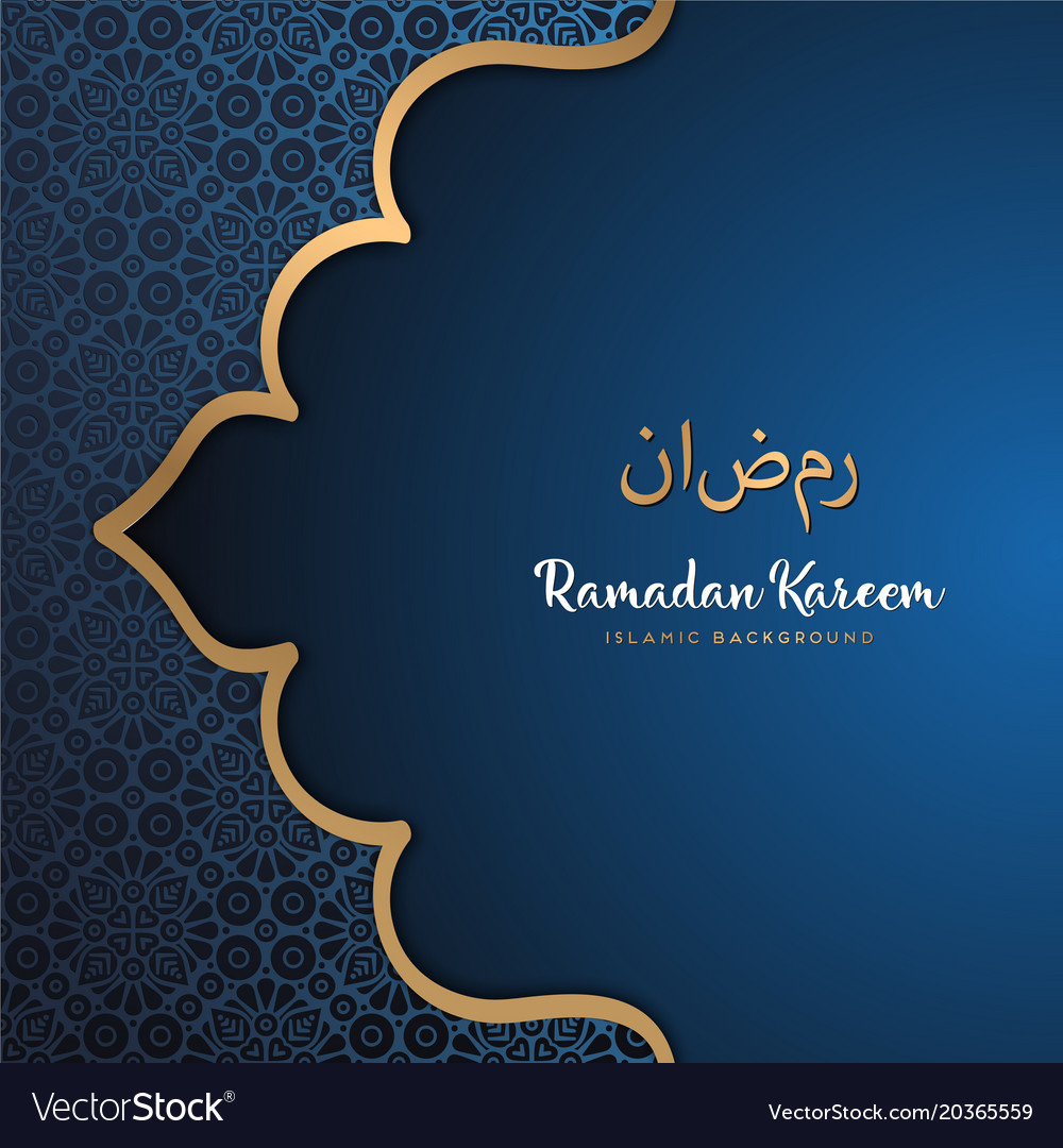 Beautiful Ramadan Kareem Greeting Card Design With