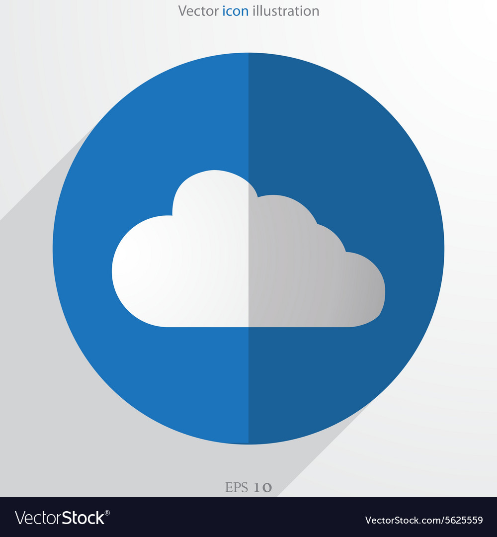 Cloud web flat icon vector image