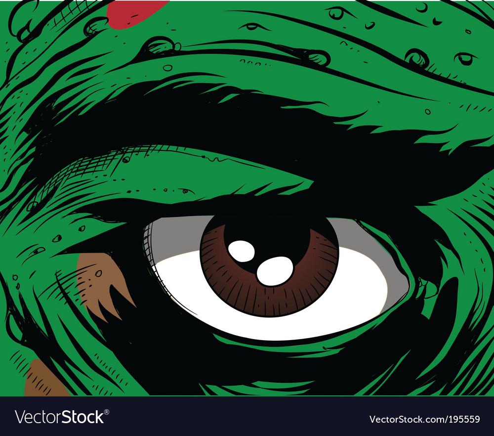 Comic book eye vector image