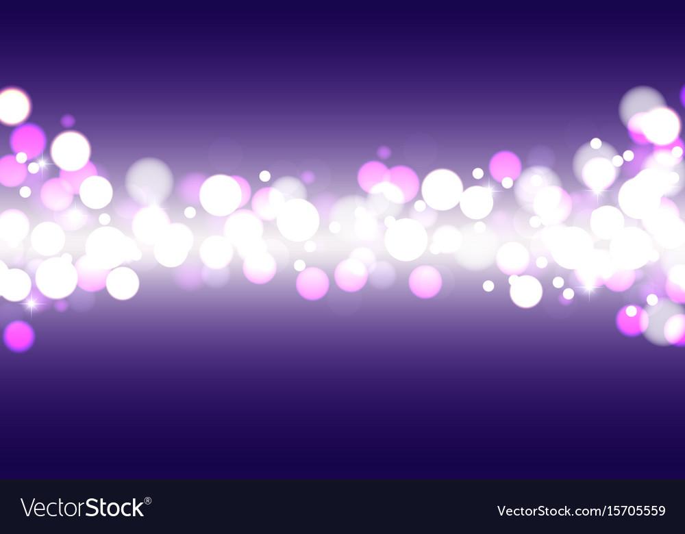 Festive defocused lights on a blue background