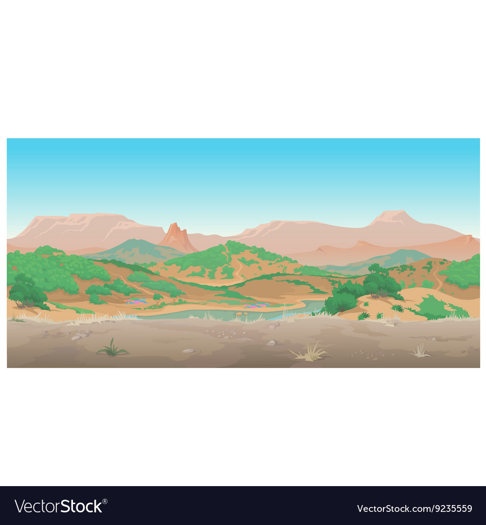 Landscape of wild West Scene creative