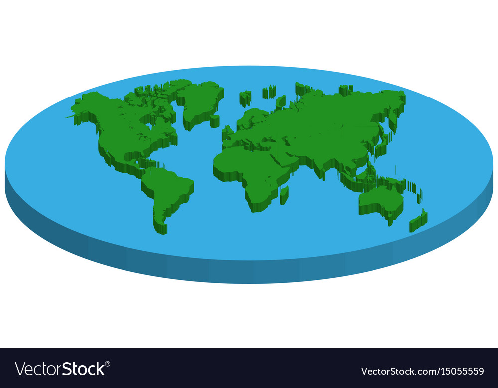Map Of Flat Earth Concept Flat Earth Royalty Free Vector