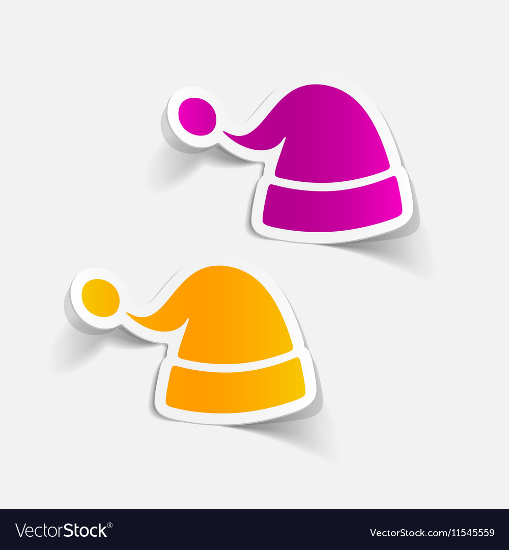 Realistic design element santa hat