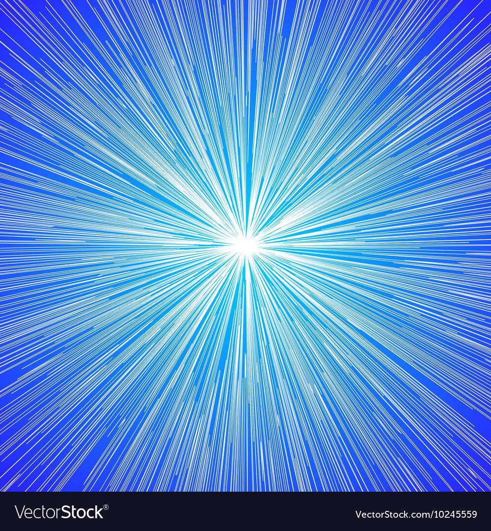 Sun Burst Blast Background Blue