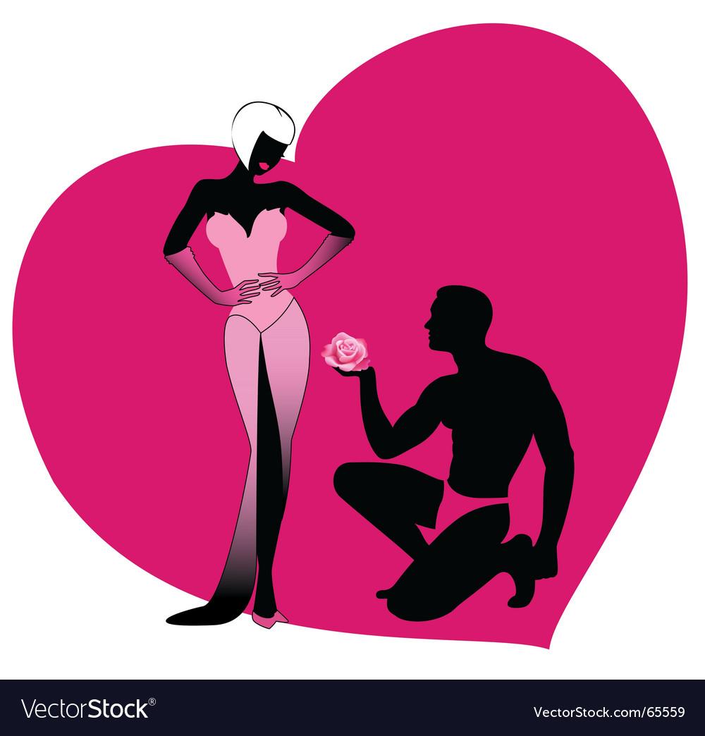 Valentine's lovers vector image