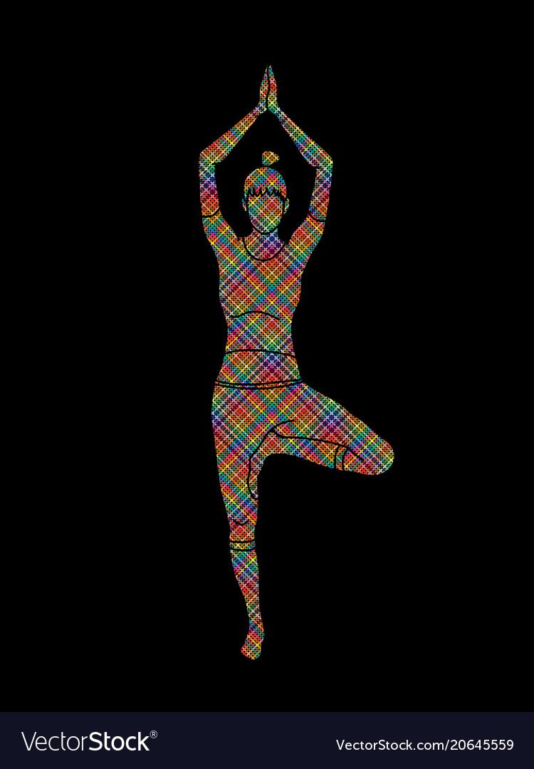 Yoga pose woman training yoga
