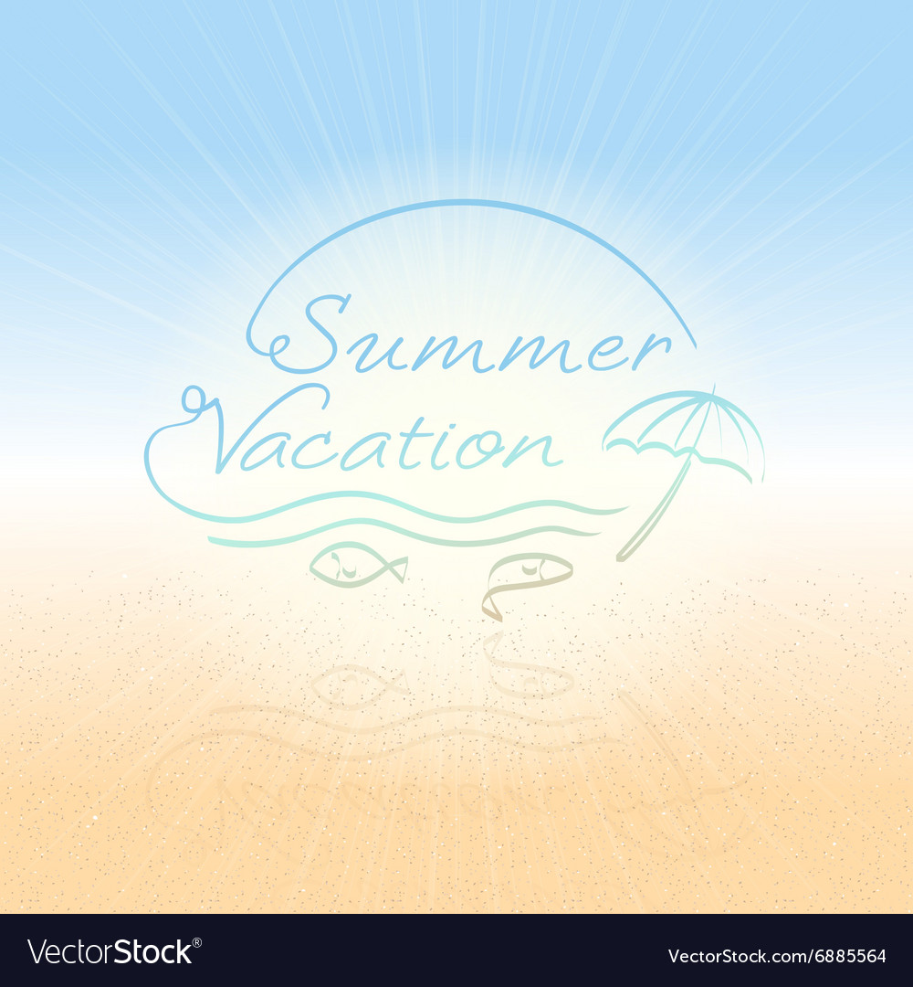 Abstract background Summer vacation