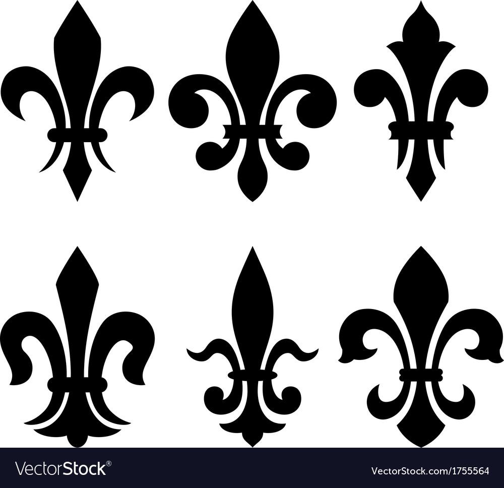 Heraldic symbols fleur de lis