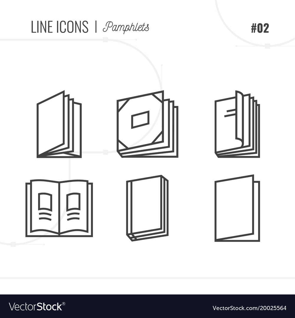 Icon style of pamphlets catalogs