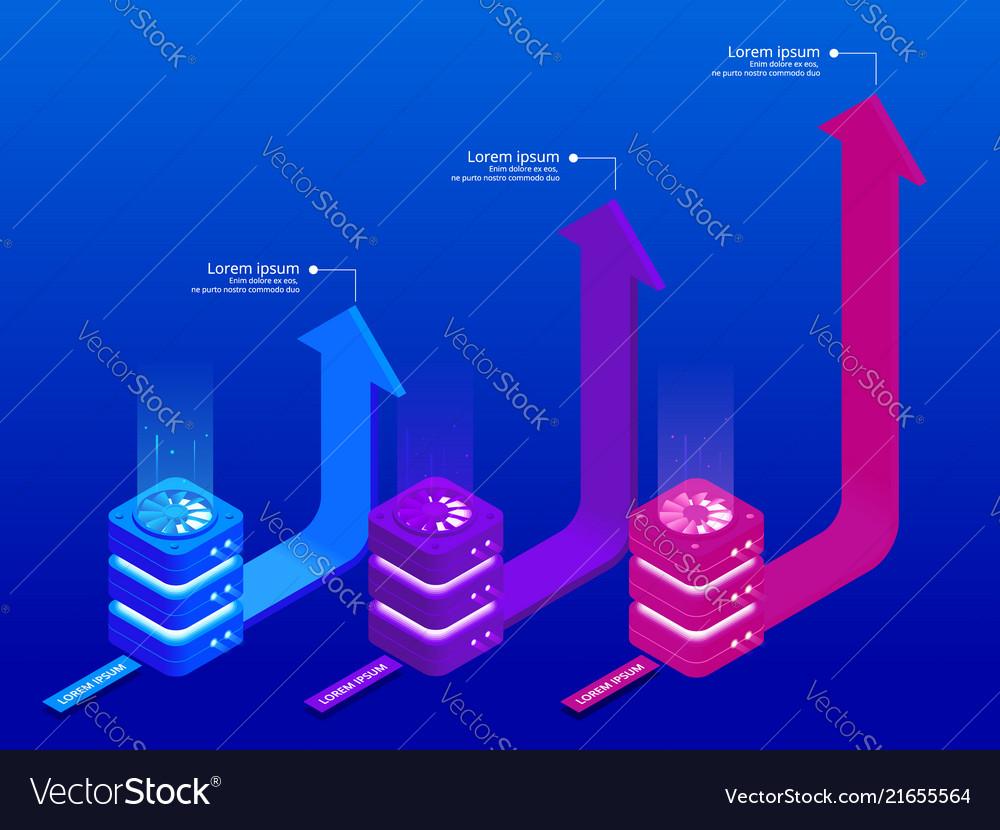 Isometric infographic elements