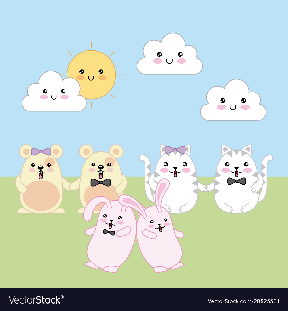 Kawaii animal cartoon