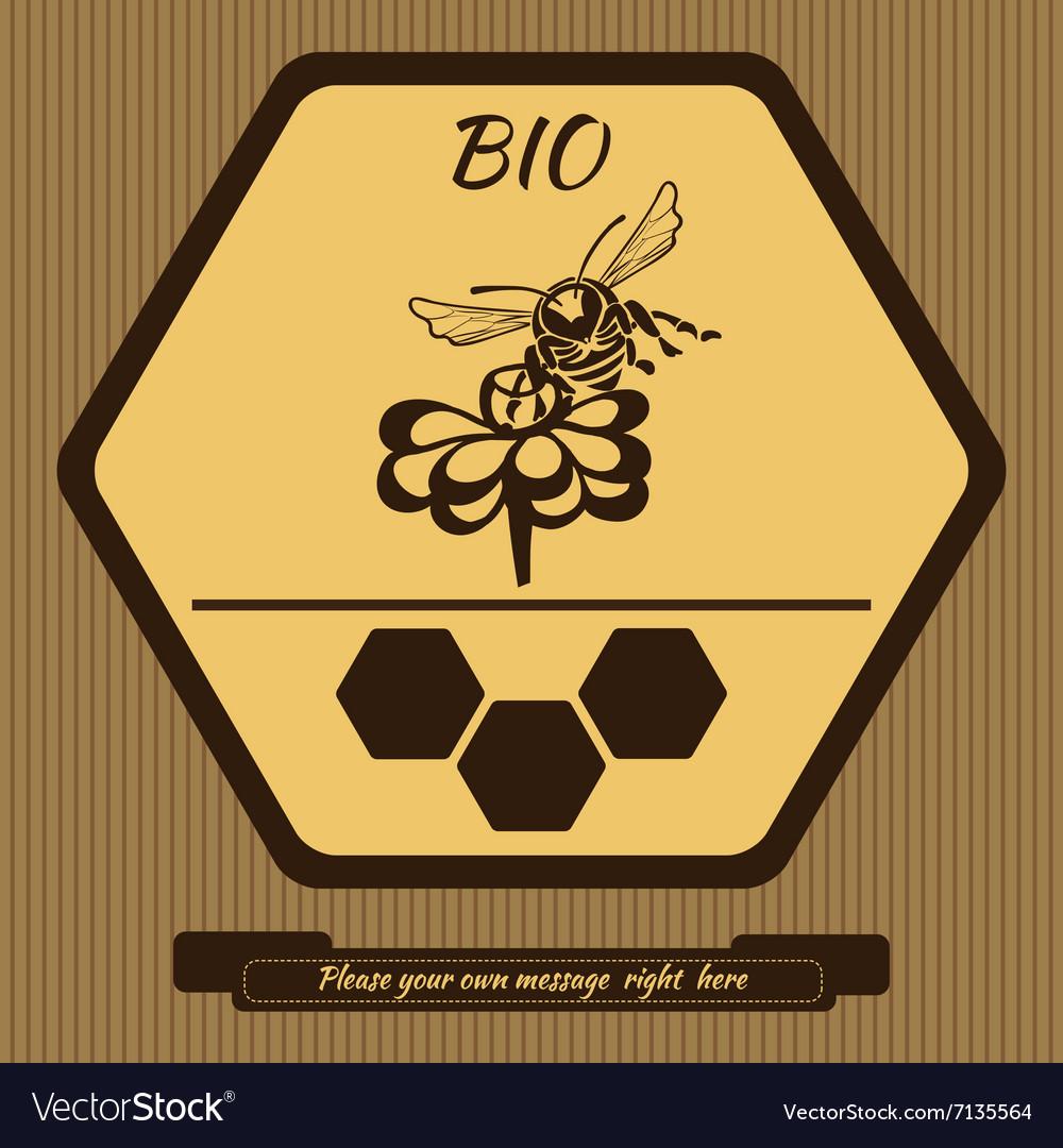 Logo for advertising honey 4