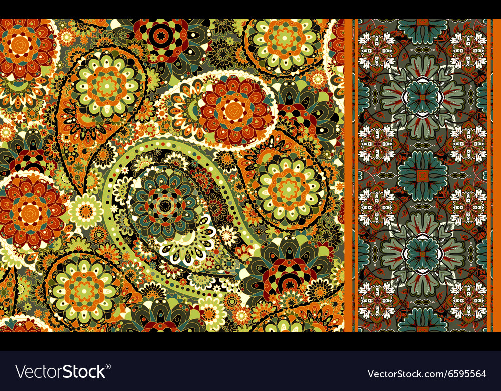Set of seamless pattern based on traditional Asian