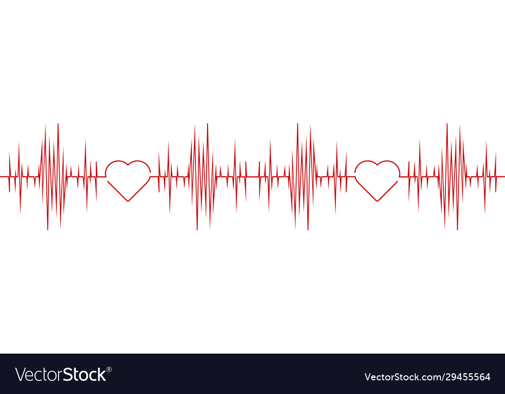 Simple medical logo designs concept simple pulse