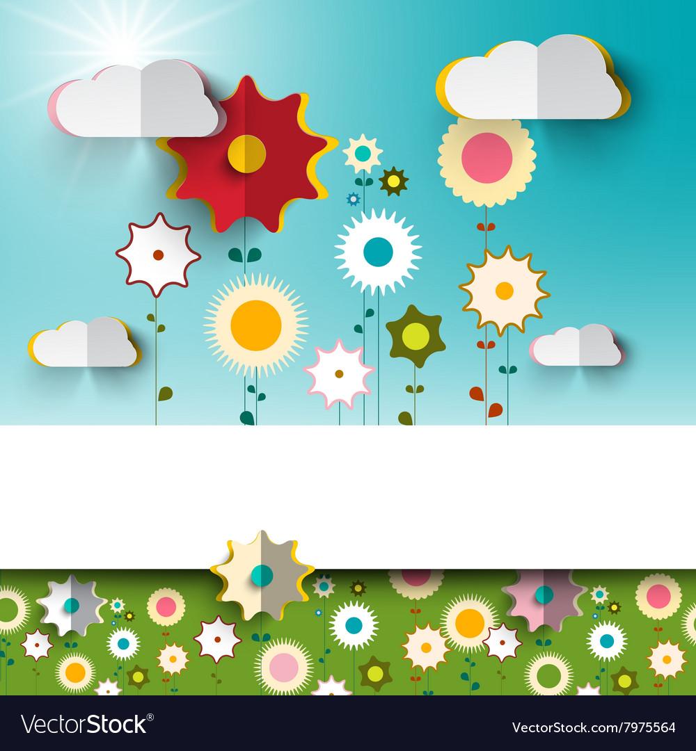 Spring - Summer Sunny Flowers on Garden - Field
