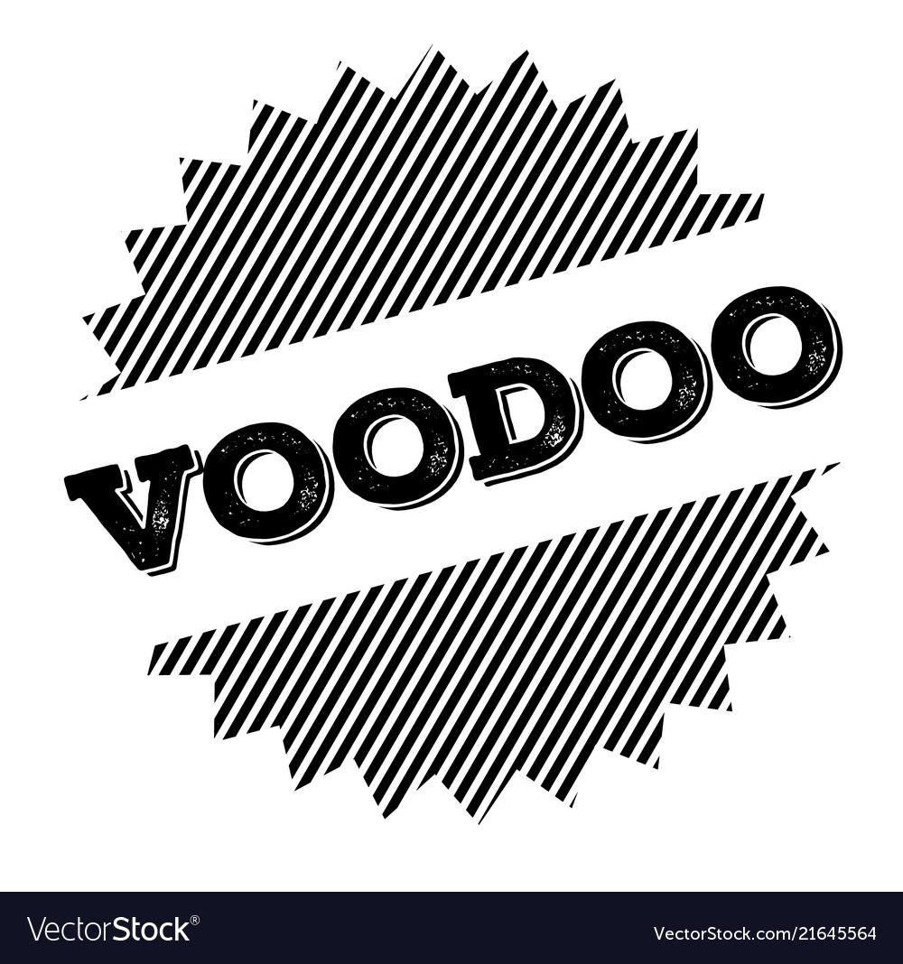Voodoo black stamp vector image on VectorStock