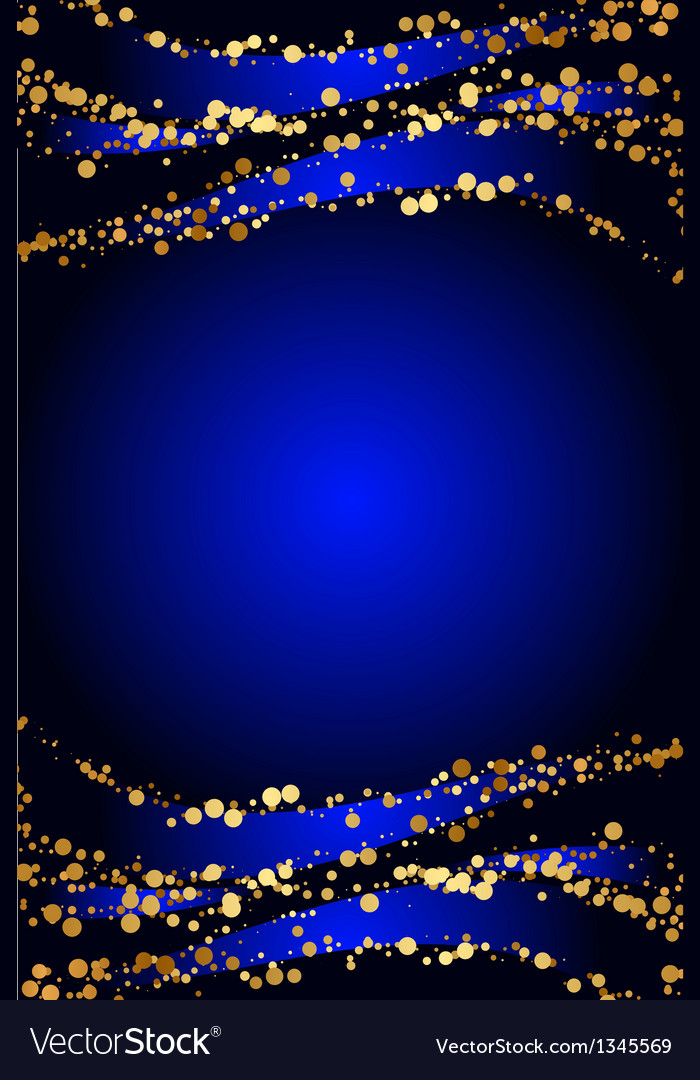Blue background with gold snow