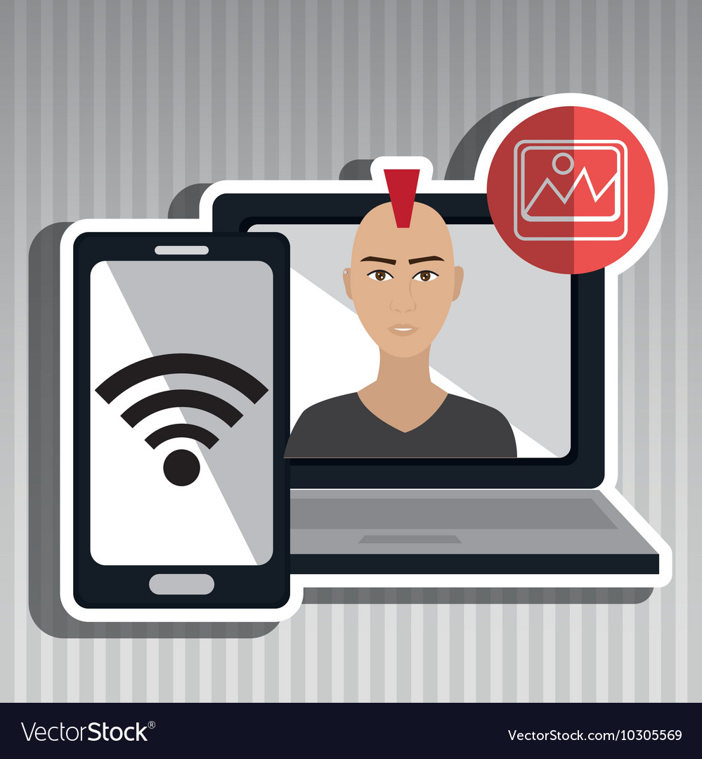 Character Design Ipad App : Character laptop cellphone app royalty free vector image